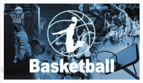 plane - ba581 - Sportsbar / Basketball - Plane Banner - 90x52,5 cm (Basketball-banner)