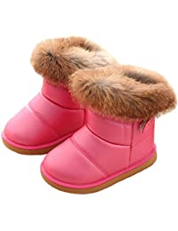 Botas de invierno caliente botas de nieve de las niñas