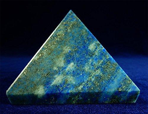 Große Lapislazuli Chakra Spirituelle Heilung Kristall Gem Pyramide, 50mm große Basis Beverly Eichen Exklusive Echtheitszertifikat