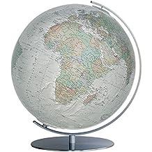 COLUMBUS Leuchtglobus DUO ALBA, ø 34 cm: handkaschiert auf Acrylglaskugel, OID-Code, Armatur Metall, Edelstahl, matt (Professional Line by COLUMBUS / ... anspruchsvoll und von bleibendem Wert)