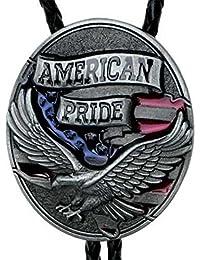 "Bolotie ""American Pride"" mit angreifendem Adler, Bolo Tie"