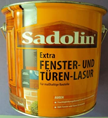 (11,99EUR/L) 2,5 L Sadolin Extra Fenster- und Türenlasur für Außen, Eiche Rustikal von Akzo Nobel bei TapetenShop
