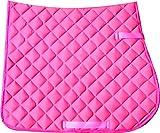 équestre Cheval d'équitation complet Tapis de selle Tapis de selle Pad différentes tailles et couleurs Livraison gratuite au Royaume-Uni Rose Rose moyen