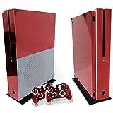 Sharplace Kit de Housse de Protection Couverture Autocollant de Joystick et Console pour Xbox One - Rouge