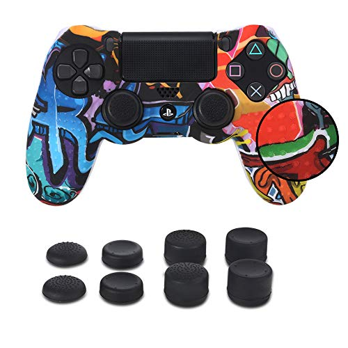 PS4 Funda Cubrir Mando PS4 4 Grips Pulgares, Funda