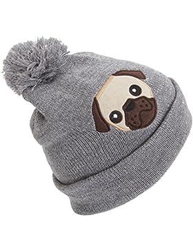 Cappello invernale con pom pom e
