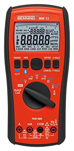 Benning MM 12TRMS–Multímetro digital con función de Logging y Bluetooth, interfaz, 1pieza, 044088