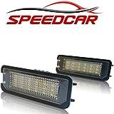 LED Kennzeichenbeleuchtung für VW Golf 4, 5 und 6, Lupo, Scirocco, Polo, Passat, Phaeton und New Beetle ll | mit E-Prüfzeichen und Zufriedenheitsgarantie | SPEEDCAR