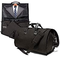 Carry On Suit Garment Bag for Travel & Business Carrier Luggage Cover Duffel Bag with Shoe Pouch (Light Black)