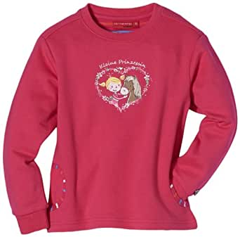 Salt & Pepper Pull  Col ras du cou Manches longues Fille - Rose - Pink (rasberry) - FR : 6 ans (Taille fabricant : 116)