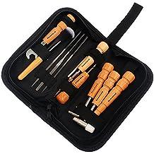 ammoon Reparación de Guitarra Kits de Limpieza de Mantenimiento 11 Piezas Conjunto de Herramientas de Reparación