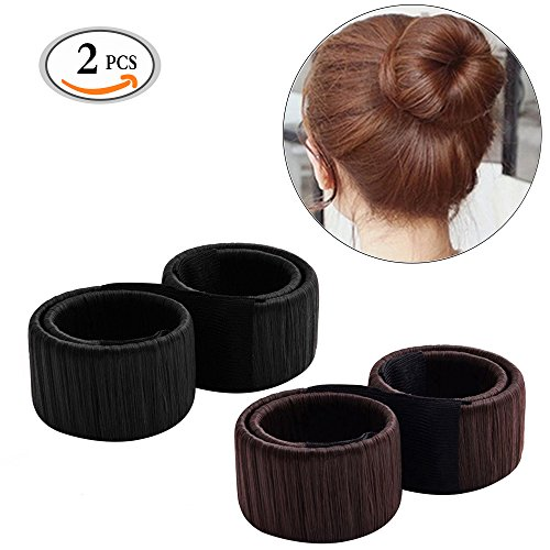 MLMSY Women Hair Styling Disk Beautiful Donut Bun Maker Former Foam French Twist Hairstyle Clip DIY Tool Doughnuts Hair Bun Make (2 Pcs)