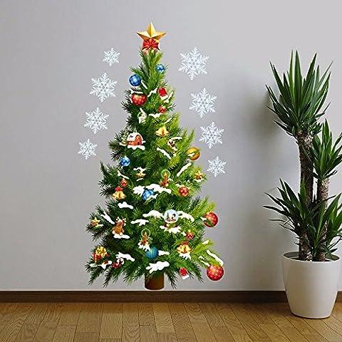 Tutoy Arbre De Noël Amovible DIY Fenêtre Wall Sticker Accueil Décoration De Fête
