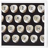 3drose diese Alte Schreibmaschine–Grußkarten, 15,2x 15,2cm, Set 12(GC _ 12800_ 2)