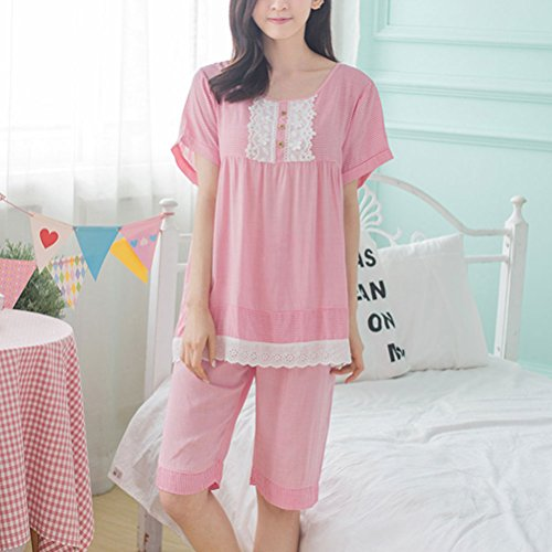 Zhhlaixing Women Nightgowns Sleepwear Cotton Pajama Set Nightwear Watermelon Red