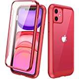 Diaclara iPhone 11 Case, 360° Full Body with Built-in Screen Protector Touch Sensitive Shockproof Soft TPU Bumper Case Cover