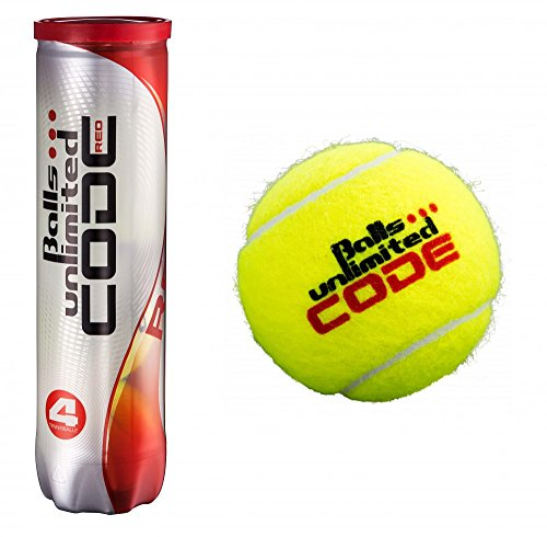 Balls Unlimited Code Red Tennisball - 4er Dose