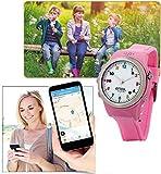 Enox Safe-Kid-One ROSA Kinderuhr Smartwatch GPS Live Tracker Peilsender Micro SIM Karten Einsatz Anruf SOS Funktion GEO-Zaun Kinder Telefon - 5
