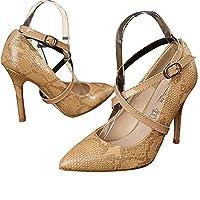 iiniim Women's PU Leather Shoe Straps High Heels Detachable Anti-loose Shoelace (One Size, Gold)
