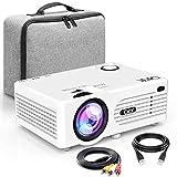 Proyector QKK [Con Bolsa Portátil], Mini Proyector 3600 Lumens, Video Proyector Soporta 1080P Full...