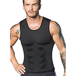 RIBIKA Hot Body Shaper Sauna Sweat Suit Herren Neopren Abnehmen Weste Gewicht Verlust Taille Trainer Top Workout Bauch