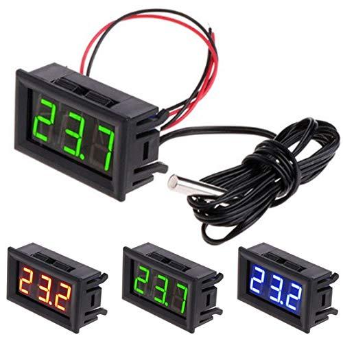 Dc 5-12v Digital Led termómetro coche control de temperatura del medidor de panel Verde