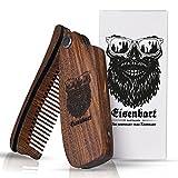 Bartkamm klappbar Holz von Eisenbart/Taschenkamm