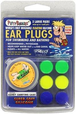 Jaco Putty Buddies - Tapones para los oídos (3 unidades, flotantes)