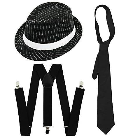 Costumes Al Capone - SET DE DÉGUISEMENT GANGSTER COSTUME DE LUXE