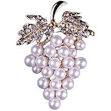 Cosanter Corea nueva moda cristal perla broche aleación diamante broche de vestir pin