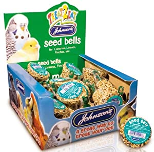 Canary & Finch Seed Bell Bird Treat 34g - Johnsons (TP)(JCBE)(FULL BOX 27)