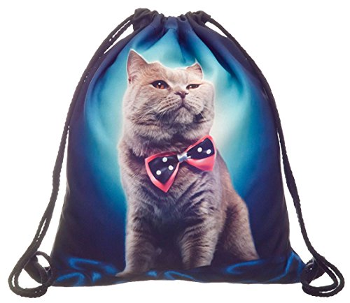 Kukubird Dos Simple Impression Divers Pack Avec Sac À Poussière Kukubird Blue Bow Cat