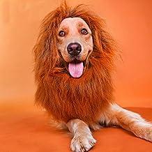 NNIUK Lion Mane para perros Unique Lion pelo suave para mascotas Halloween fiesta de Navidad Cosplay traje divertido Puppy Collar adecuado para calor al aire libre