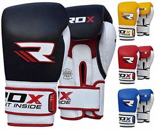 RDX BGL-T1 - Guanti da box, Gel Tech , Unisex, 14oz, nero - Pro Gel Grip
