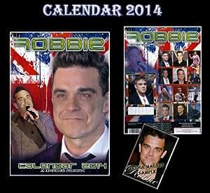ROBBIE WILLIAMS 2014 KALENDER VON DREAM + FREE ROBBIE WILLIAMS Kühlschrank-Magnet