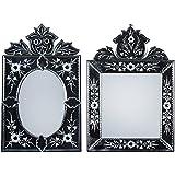 MADHUSUDAN GLASS WORKS Mirror & Plywood Wall Mirror (Pack Of 2, Silver) - B07BJ4B549