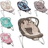Babywippe / Babywiege / Babyschaukel (Inklusive Spielbogen mit 3 Figuren) + Vibrationsfunktion & Musikfunktion (12 Melodien) (MINT)