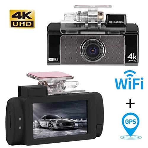 ett DVR 4K Full HD Dual Kamera Auto Dash Cam, G-Sensor, Loop-Aufnahme, Parküberwachung, Bewegungserkennung ()