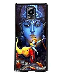 PrintVisa Designer Back Case Cover for Samsung Galaxy Note 4 :: Samsung Galaxy Note 4 N910G :: Samsung Galaxy Note 4 N910F N910K/N910L/N910S N910C N910Fd N910Fq N910H N910G N910U N910W8 (Krishna Fighting Snake In Sea)