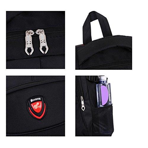 Portable Travel Backpack Oxford Fabric Multifunktion Outdoor Sport leisure Rucksack Klettern Wandern Reiten Studenten Tasche H52 x L36 x T18 cm Black