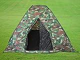 HUKITECH Sekundenzelt Schnellaufbauzelt (selbstaufbauend) 4 Personen - Schnellaufbau Sekunden Zelt Angelzelt Camping