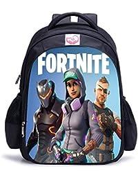 Memoryee Fortnite 3D juego de impresión Unisex School Bag Collection Mochila de lona port¨¢til libro Satchel bolsa de senderismo - 15L/32 x 17 x 42 cm/Fortnite11-big