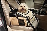 Maxmer Hund Transporttasche Hundetransportbox Hundautositz Hundebox Katzenbox Oxford Tuch + Atmungsaktiv Netzfenster geeignet für klein Tiere wie Hunde Häschen Katzen (Beige/grün/lila/grau, S/L)