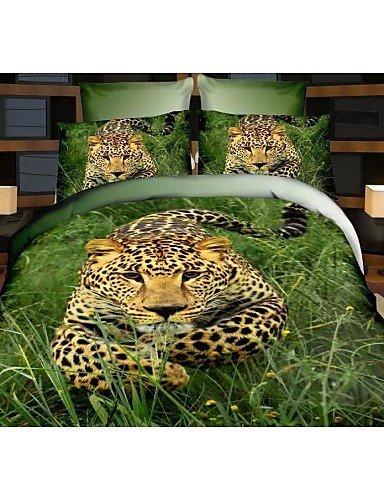 ZHUAN GAOHAIFQ®, vierteilige Anzug,Bettbezug-Set, 4 Stück Anzug Komfort einfachen Cartoon modernen Druck Muster 3D Zeichen, Full -