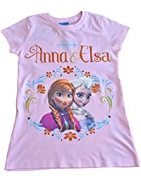 Disney Frozen T-Shirt 3 to 10 Years Anna and Elsa T-shirt Pink