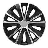 16 Zoll Radzierblenden RAPIDE BICOLOR (Silber/Schwarz). Radkappen passend für fast alle VW Volkswagen wie z.B. Caddy Maxi