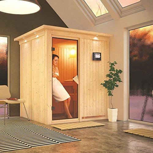 Karibu Elementsauna / Sauna Laurin mit Saunaofen 9kW extern