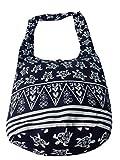 Handgefertigte Schultertasche aus Baumwolle Canvas mit Schildkröten Muster von Ariyas Thaishop