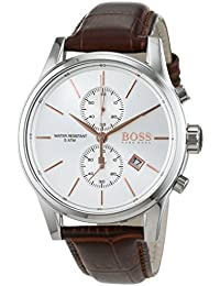 Hugo Boss Herren-Armbanduhr Chronograph Quarz Leder 1513280