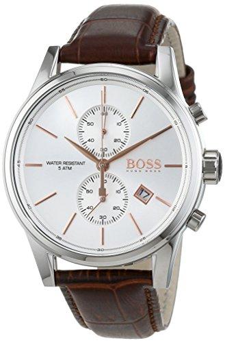Hugo Boss Herren-Armbanduhr JET Chronograph Quarz Leder 1513280
